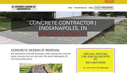 Indianapolis concrete contractor